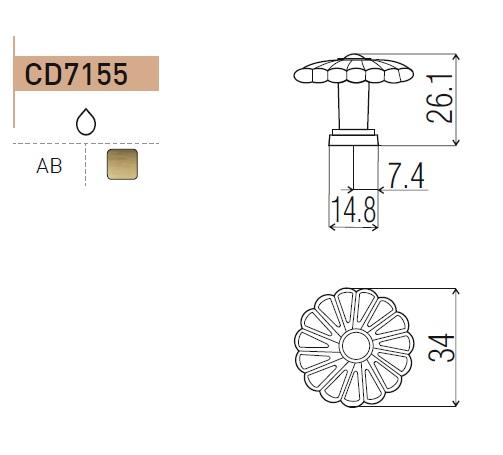 uchwyt do mebli gałka CD7155