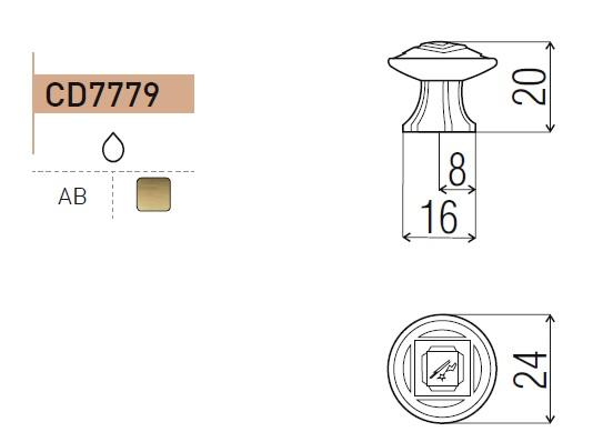 uchwyt do mebli gałka CD7779