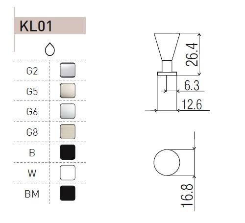 uchwyt do mebli gałka KL01