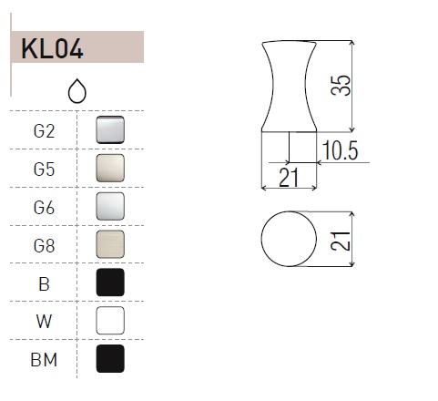 uchwyt do mebli gałka KL04